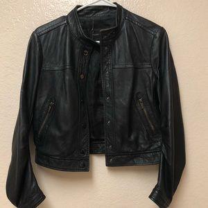 BCBGMaxazria black leather jacket